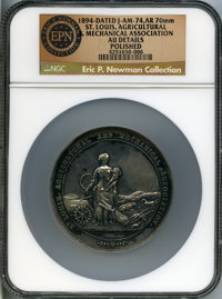 1894-Dated St. Louis Agricultural and Mechanical Association, Silver Award Medal, Julian AM-74 -- Polished -- NGC Detail...