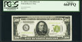 Small Size:Federal Reserve Notes, Fr. 2201-G $500 1934 Light Green Seal Federal Reserve Note. PCGS Gem New 66PPQ.. ...