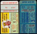 Baseball Collectibles:Tickets, 1947 and 1958 World Series Ticket Stubs (2)....