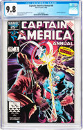 Modern Age (1980-Present):Superhero, Captain America Annual #8 (Marvel, 1986) CGC NM/MT 9.8 Whitepages....