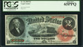 Large Size:Legal Tender Notes, Fr. 42 $2 1869 Legal Tender PCGS Gem New 65PPQ.. ...