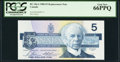 Canadian Currency: , BC-56cA $5 1986 Replacement FNX Prefix. ...
