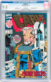 Cable #1 (Marvel, 1993) CBCS NM/MT 9.8 White pages