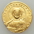 Ancients:Byzantine, Ancients: Constantine VII Porphyrogenitus (AD 913-959), withRomanus II (AD 945-963). AV solidus (4.37 gm)....