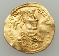 Ancients:Byzantine, Ancients: Constans II (AD 641-668). AV tremissis (1.46 gm)....