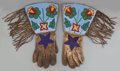 American Indian Art:Beadwork and Quillwork, A Pair of Plateau Beaded Hide Gauntlets. c. 1900... (Total: 2Items)