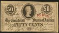 Confederate Notes:1863 Issues, T63 50 Cents 1863 PF-4 Cr. 485.. ...