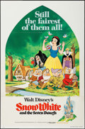 "Movie Posters:Animation, Snow White and the Seven Dwarfs Lot (Buena Vista, R-1975/R-1967).One Sheet (27"" X 41"") & Uncut Pressbooks (4) (11"" X 15""). ...(Total: 5 Items)"