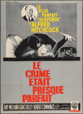 "Movie Posters:Hitchcock, Dial M for Murder (Warner Brothers, R-1962). French Grande (45"" X 62""). Hitchcock.. ..."