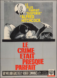"Dial M for Murder (Warner Brothers, R-1962). French Grande (45"" X 62""). Hitchcock"