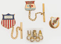 Olympic Collectibles:Autographs, Vintage Olympic Pins and Tie Tacks Lot of 4....