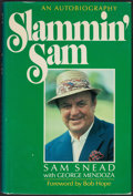 "Golf Collectibles:Autographs, San Snead Signed Hardcover ""Slammin' Sam"" Book. ..."