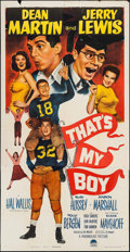 """Movie Posters:Comedy, That's My Boy (Paramount, 1951). Three Sheet (41"""" X 80""""). Comedy....."""