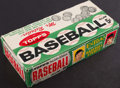 Baseball Cards:Unopened Packs/Display Boxes, 1962 Topps Baseball Empty Wax Pack Display Box. ...