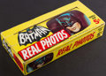 """Non-Sport Cards:Unopened Packs/Display Boxes, 1966 Topps Batman """"Real Photos"""" Empty Display Box. ..."""