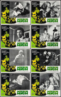 """Horror High & Other Lot (Crown International, 1974). Lobby Card Sets of 8 (2 Sets) (11"""" X 14""""). Horror..."""