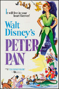 """Movie Posters:Animation, Peter Pan (Buena Vista, R-1976). One Sheet (27"""" X 41""""), Photo (8"""" X 10""""), Uncut Pressbook (12 Pages, 11"""" X 15"""") & Ad Slicks ... (Total: 6 Items)"""