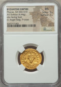 Ancients:Byzantine, Ancients: Phocas (AD 602-610). AV solidus (4.44 gm)....