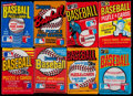 Baseball Cards:Unopened Packs/Display Boxes, 1974-88 Donruss, Fleer & Topps Wax Pack Collection (30)....