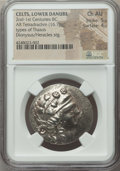 Ancients:Celtic, Ancients: DANUBIAN BASIN. Imitating Thasos. Ca. 2nd-1st centuriesBC. AR tetradrachm (16.78 gm)....