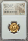 Ancients:Byzantine, Ancients: Basil I and Constantine (868-879). AV solidus (4.35gm)....