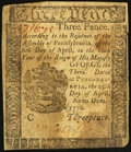 Colonial Notes:Pennsylvania, Pennsylvania April 25, 1776 3d Very Fine-Extremely Fine.. ...