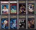 Baseball Collectibles:Uniforms, 1985-99 Multi-Sport Stars & HoFers Graded Collection (16)....