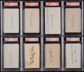 Baseball Collectibles:Others, Boston Red Sox Signed Index Cards and GPC Lot of 8....