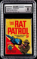 "Non-Sport Cards:Unopened Packs/Display Boxes, 1966 O-Pee-Chee ""Rat Patrol"" Unopened Wax Pack GAI NM-MT 8. ..."