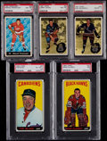 Hockey Cards:Lots, 1960's Topps & Parkhurst Hockey Stars PSA Graded Collection(5). ...