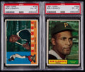 Baseball Cards:Lots, 1960 & 1961 Topps Roberto Clemente PSA EX-MT 6 Graded Pair(2)....