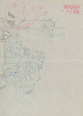 Animation Art:Production Drawing, Snow White and the Seven Dwarfs Magazine Cover ConceptIllustration (Walt Disney, 1937)....