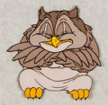 Animation Art:Production Cel, Bambi Friend Owl Production Cel (Walt Disney, 1942). ...
