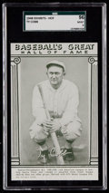 Baseball Cards:Singles (1940-1949), 1948 Baseball's Great HOF Exhibits Ty Cobb SGC 96 Mint 9 - PopThree, None Higher....