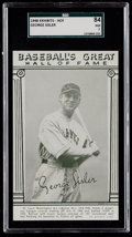 Baseball Cards:Singles (1940-1949), 1948 Baseball's Great HOF Exhibits George Sisler SGC 84 NM 7....