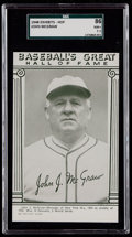 Baseball Cards:Singles (1940-1949), 1948 Baseball's Great HOF Exhibits John McGraw SGC 86 NM+ 7.5 - PopOne, One Higher....