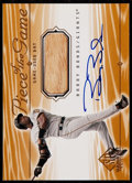 Baseball Cards:Singles (1970-Now), 2000 SP Game Bat Piece Of The Game Barry Bonds Autograph Bat Card#S-BB....
