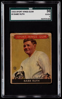 1933 Sport Kings Babe Ruth #2 SGC 30 Good 2