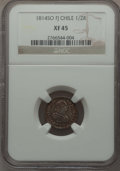 Chile, Chile: Ferdinand VII 1/2 Real 1814 So-FJ XF45 NGC,...