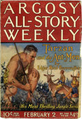 """Pulps:Adventure, Argosy-All Story Weekly """"Tarzan and the Ant-Men"""" Group (Munsey, 1924) Condition: Average VG.... (Total: 7 Items)"""