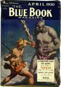 """Pulps:Hero, Blue Book """"A Fighting Man of Mars"""" Group (McCall Co., 1930) Condition: Average VG.... (Total: 6 Items)"""