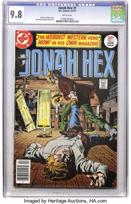 Jonah Hex #1 (DC, 1977) CGC NM/MT 9.8 White pages....