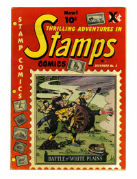 Thrilling Adventures in Stamps #2 Carson City pedigree (Stamp Comics, 1951) Condition: FN/VF