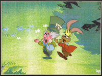 """Alice in Wonderland"" The Mad Hatter and the March Hare Animation Production Cel Original Art (Disney, 1951)..."