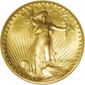 High Relief Double Eagles: , 1907 $20 High Relief, Flat Rim MS64 NGC. The far less obtainable Flat Rim variety of this immensely popular 20th century go...