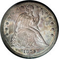 Seated Dollars, 1859-S $1 MS62 NGC....