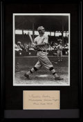 Baseball Collectibles:Others, Frank Home Run Baker Signed Display....