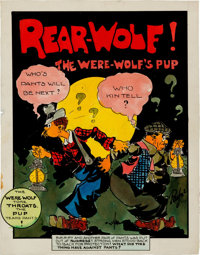 Charles M. Payne Rear-Wolf! Illustration Original Art (c. 1940s)