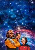 "Original Comic Art:Covers, Keith Birdsong Star Trek: The Next Generation #23 ""WarDrums"" Paperback Novel Cover Painting Original Art (Pocket ..."