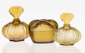 Art Glass:Lalique, Two Lalique Frosted Glass Myrable Perfume Bottles andMyrable Covered Box, post-1945. Marks: Laliq... (Total: 3Items)